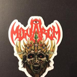 "Monarch Sticker (White) 3"" x 2.5"""